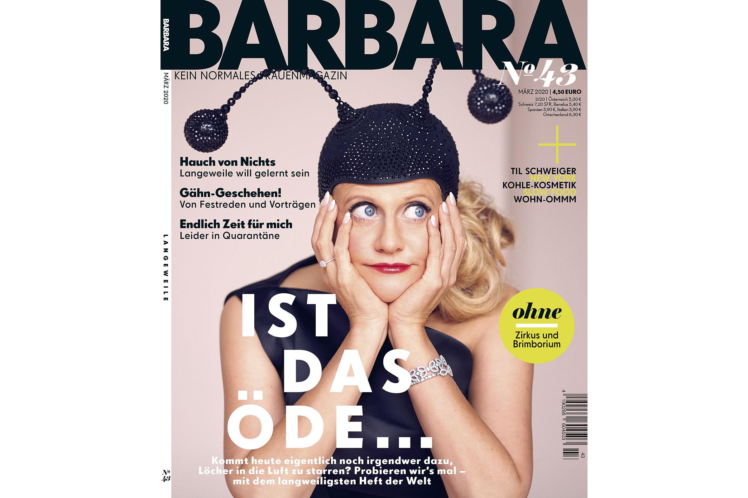 """Barbara Schöneberger für das Cover ihres Magazins """"Barbara"""" Ausgabe #43"""